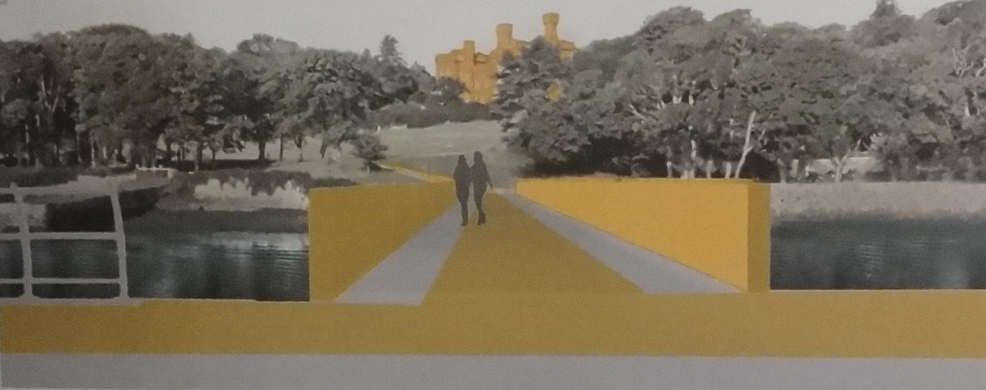 The proposed bridge across the inner harbour to Lews Castle