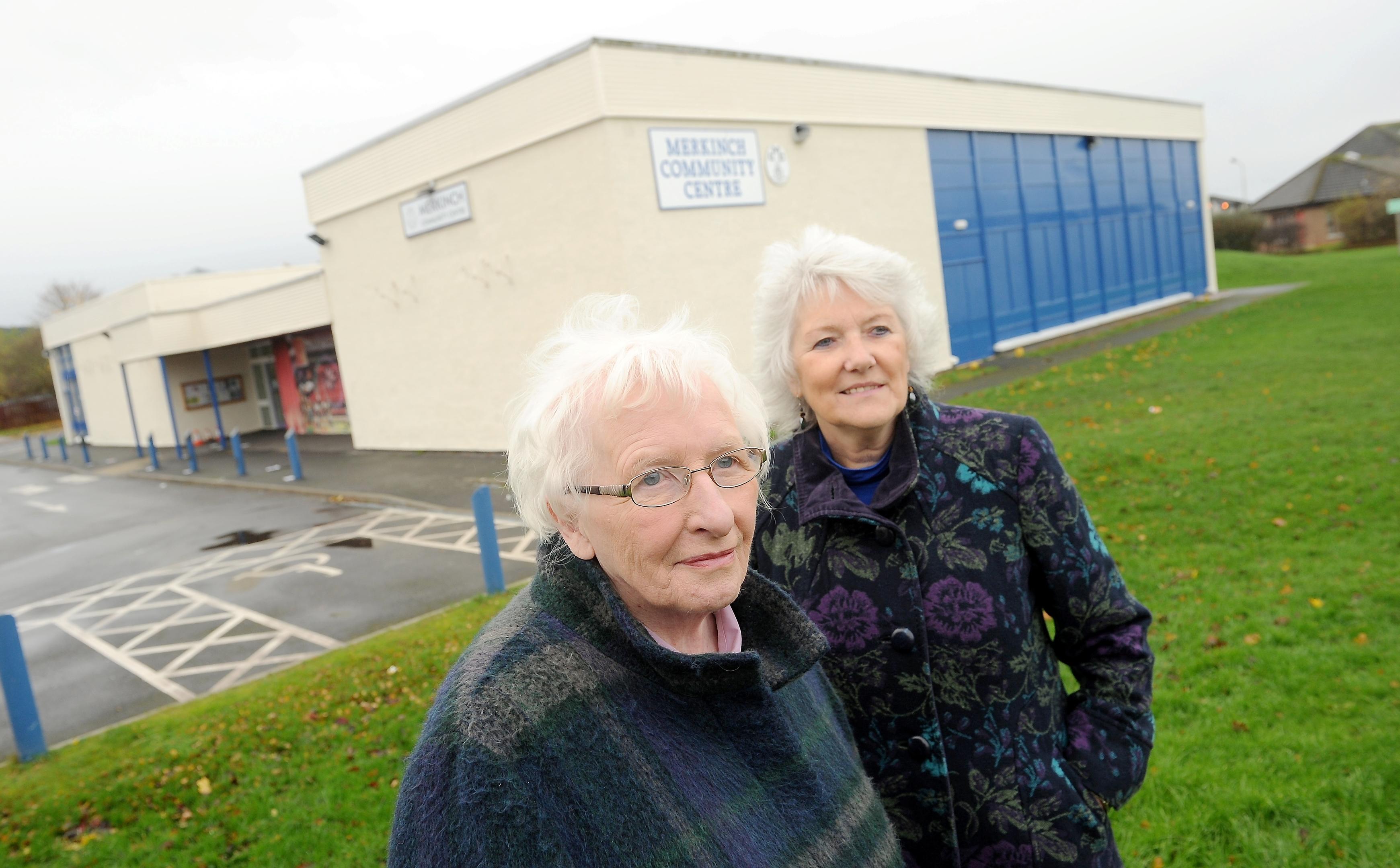 Anne McCreadie (left) Chairwoman of the Merkinch Community Centre Association, said move put strain on older voters