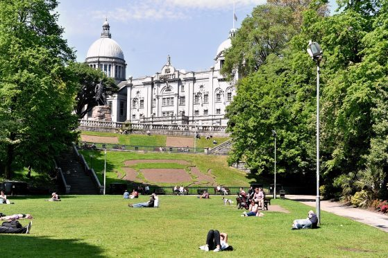 Union Terrace Gardens on a sunny day. Picture by Colin Rennie