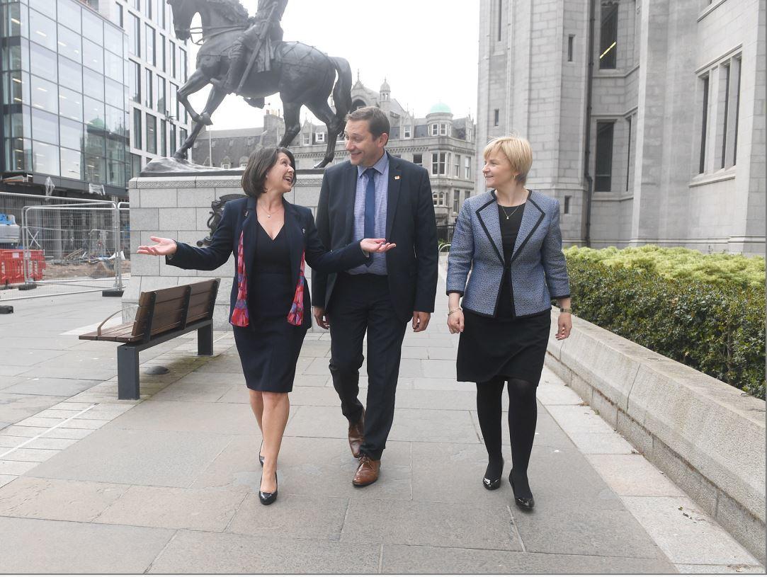 Marie Boulton, Douglas Lumsden and Jenny Laing