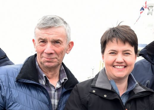 Mr Buchan was pictured side-by-side with Ms Davidson on her visit to Peterhead earlier this week as she campaigned for the general election.