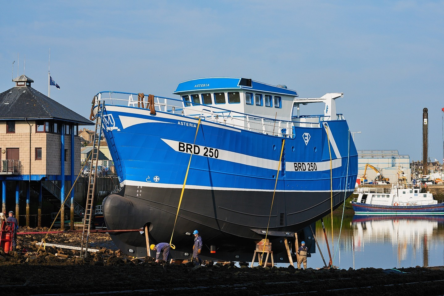 The Asteria's launch in Buckie