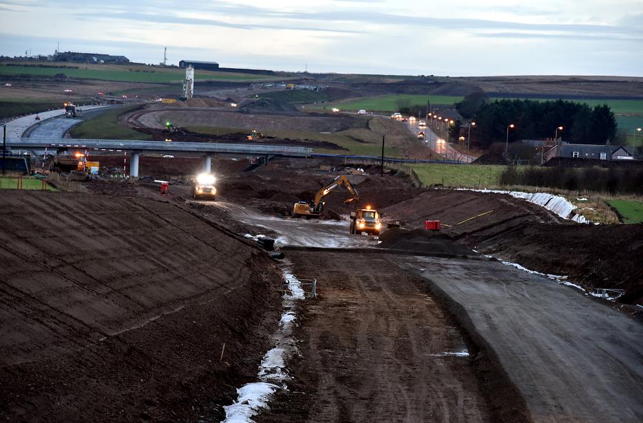 Thousands of pounds has been stolen from the Aberdeen Bypass construction site