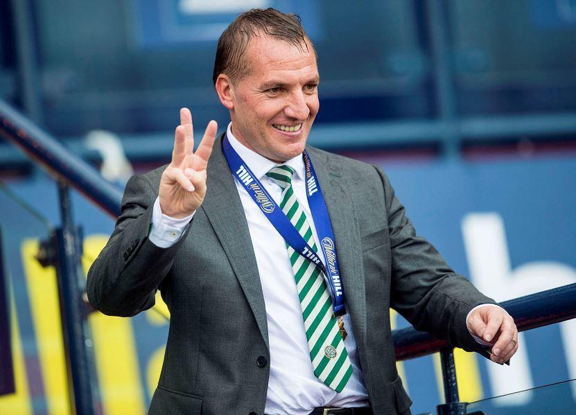 Celtic manager Brendan Rodger at full time