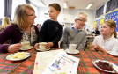 The youngsters at Monymusk school hold a Doric talk tea party in the school at Monymusk.