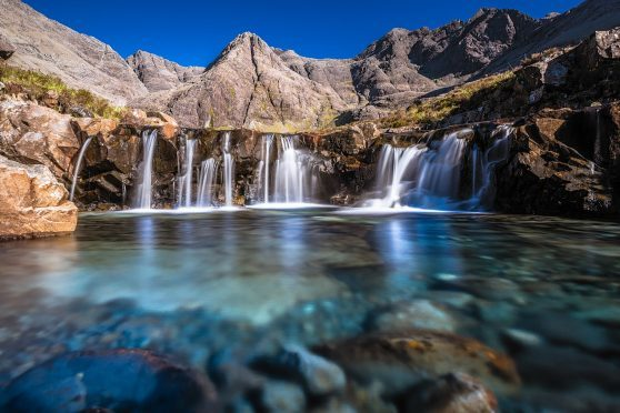 The Fairy Pools on Skye are a popular attraction