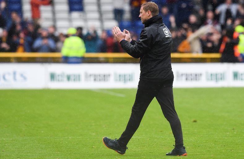 Richie Foran after the full-time whistle, when Inverness' relegation is confirmed. (Picture: SNS Group/Craig Williamson)