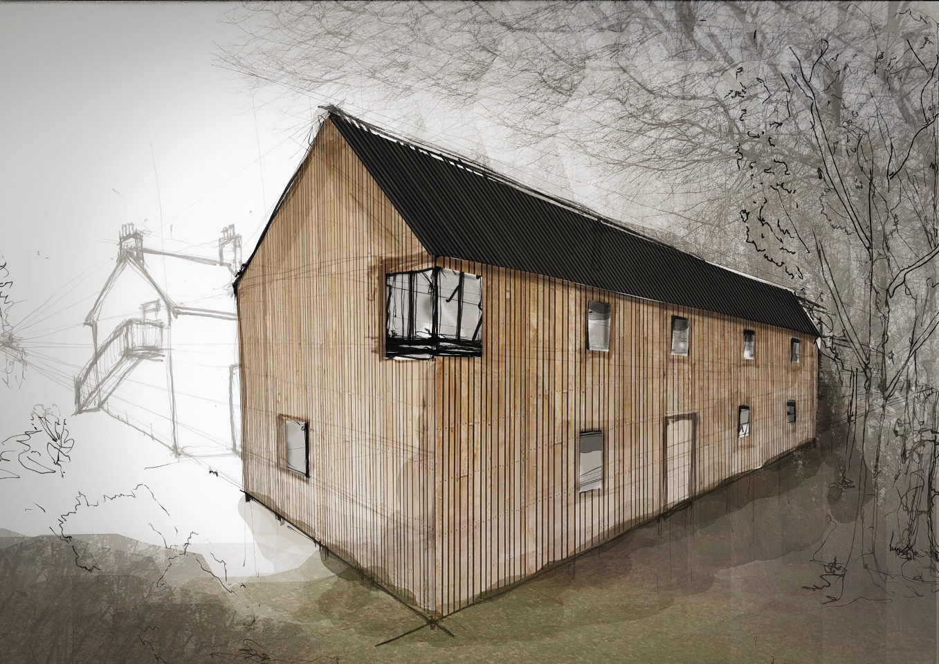 A rough artistic impression of the extension at the Glencoe Centre