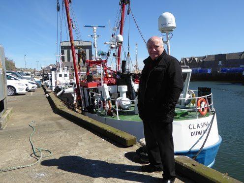 John Buchan at Peterhead harbour
