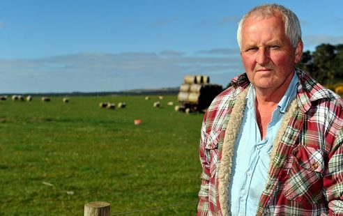 Farmer Martin Taylor who had 54 sheep stolen from a field overnight