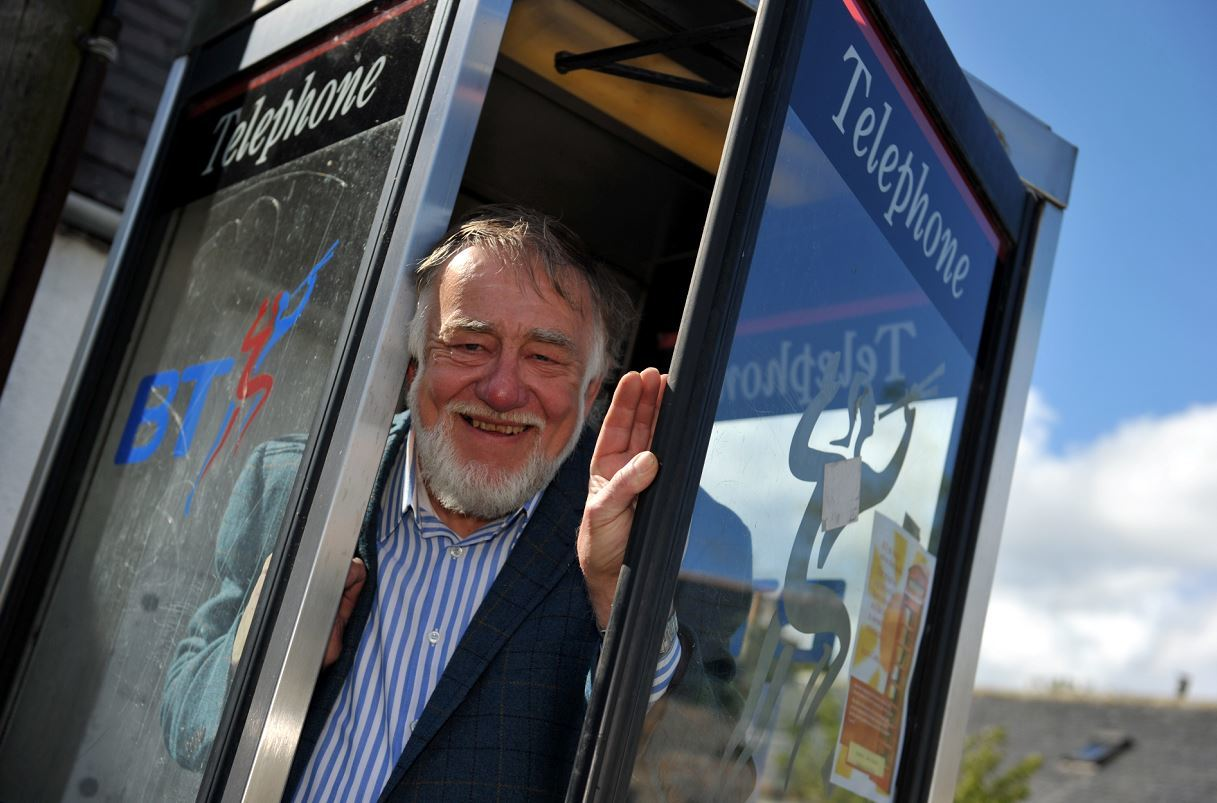 Jim Mackie believes the phone box on Garmouth's High Street is the perfect home for a defibrillator.