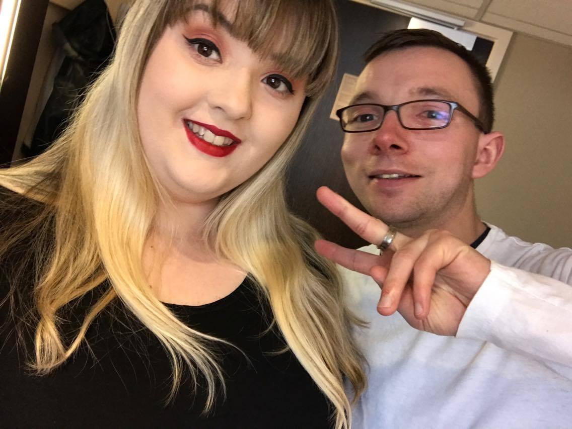 Sarah Gardiner with her boyfriend Robert Kirkpatrick pictured just before the concert.