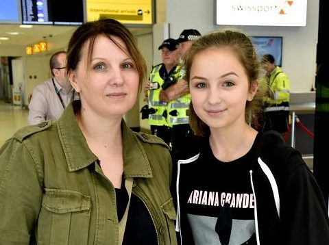 Susan Main and daughter Rachel were at the Ariana Grande concert in Manchester.