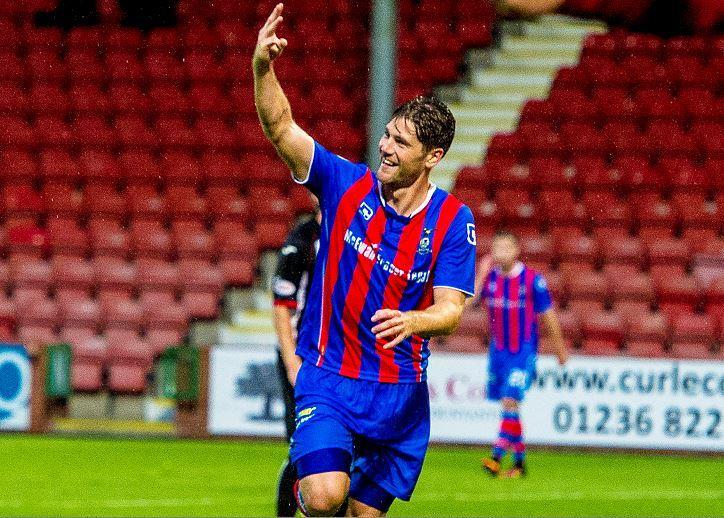 Caley Thistle midfielder Iain Vigurs.