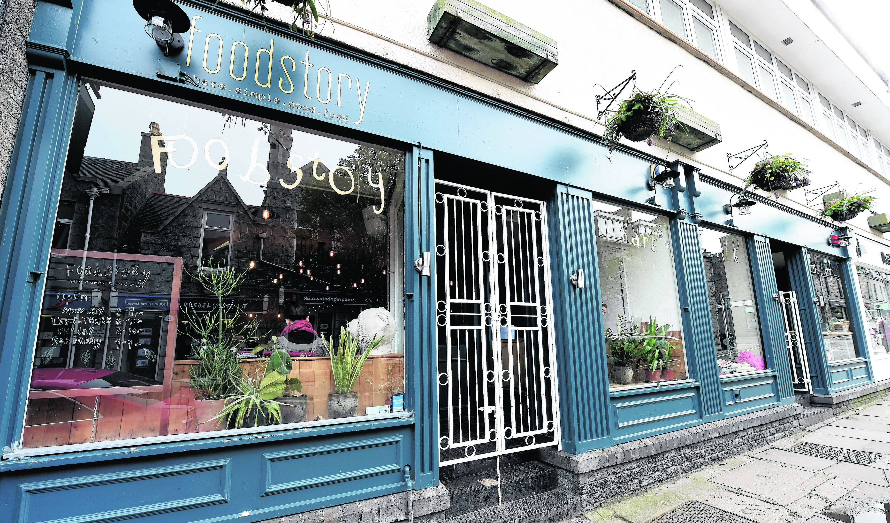 Food Story on Thistle Street in Aberdeen.
