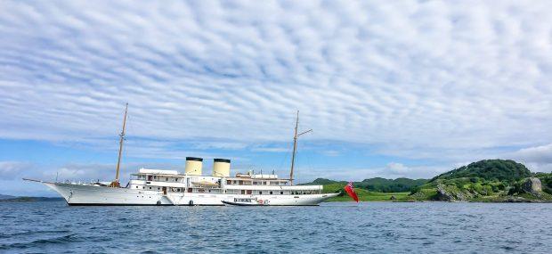 The super yacht Talitha