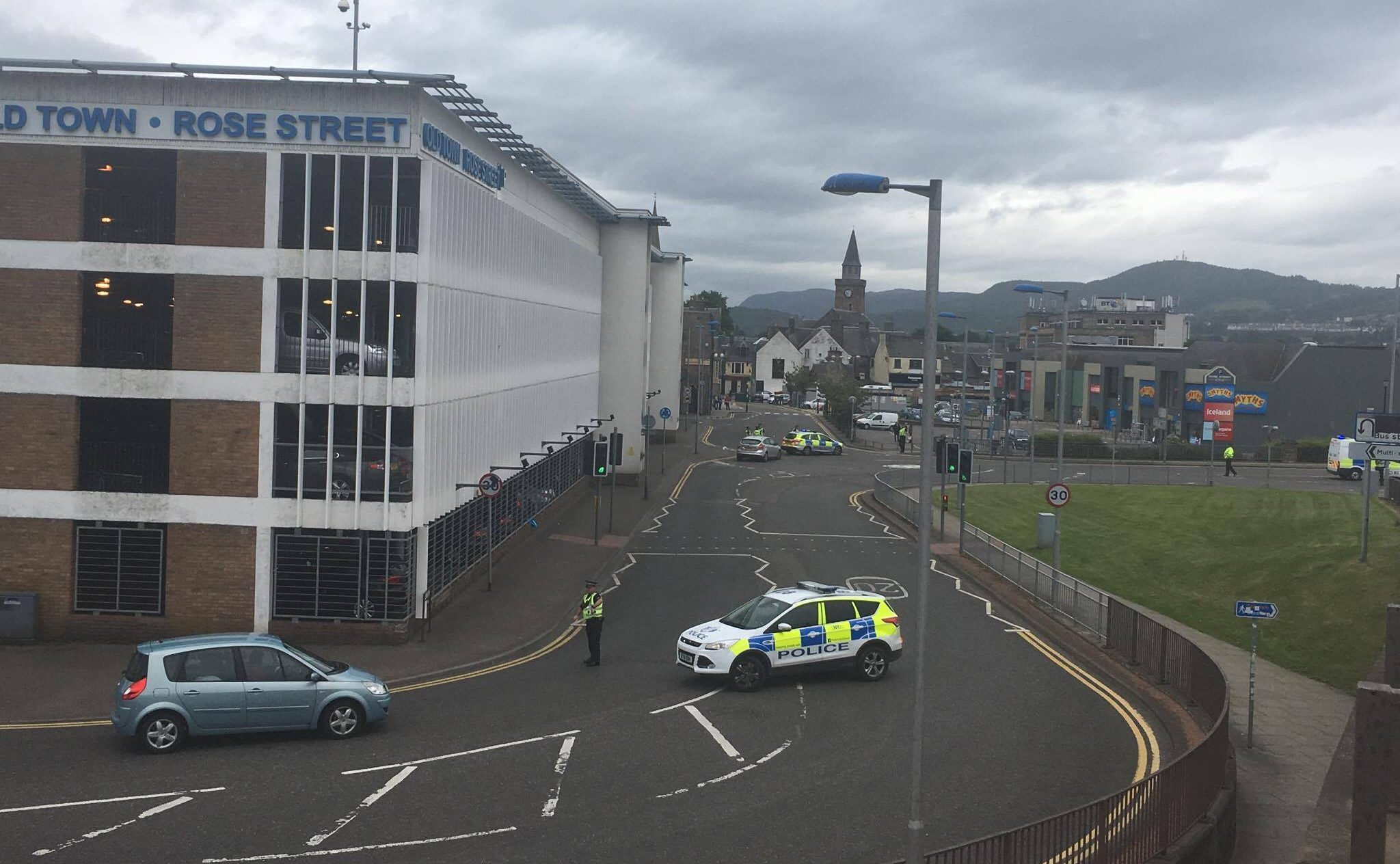 The scene of the incident in Inverness