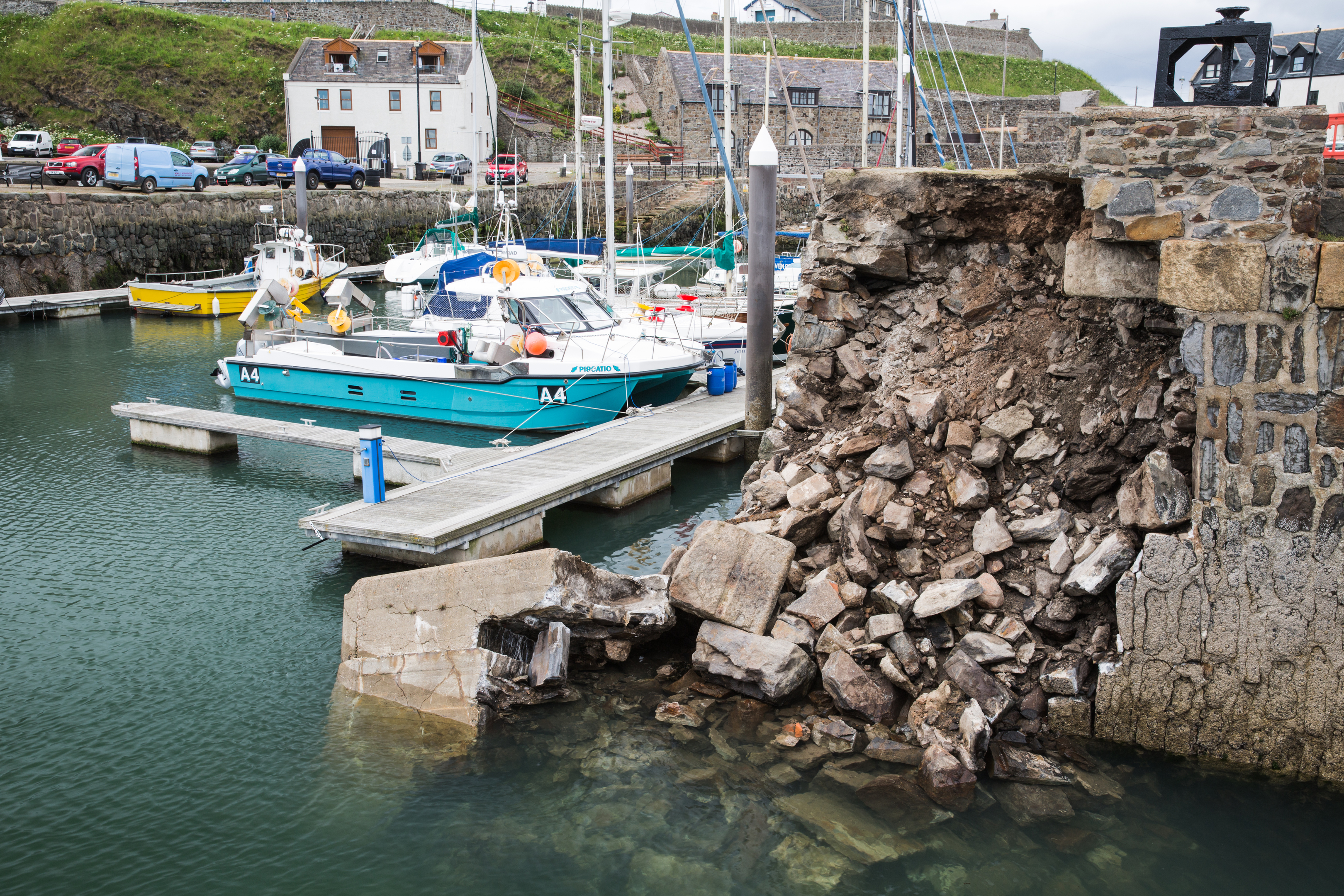 A section of the pier at Banff Harbour first collapsed overnight on Friday, June 16.