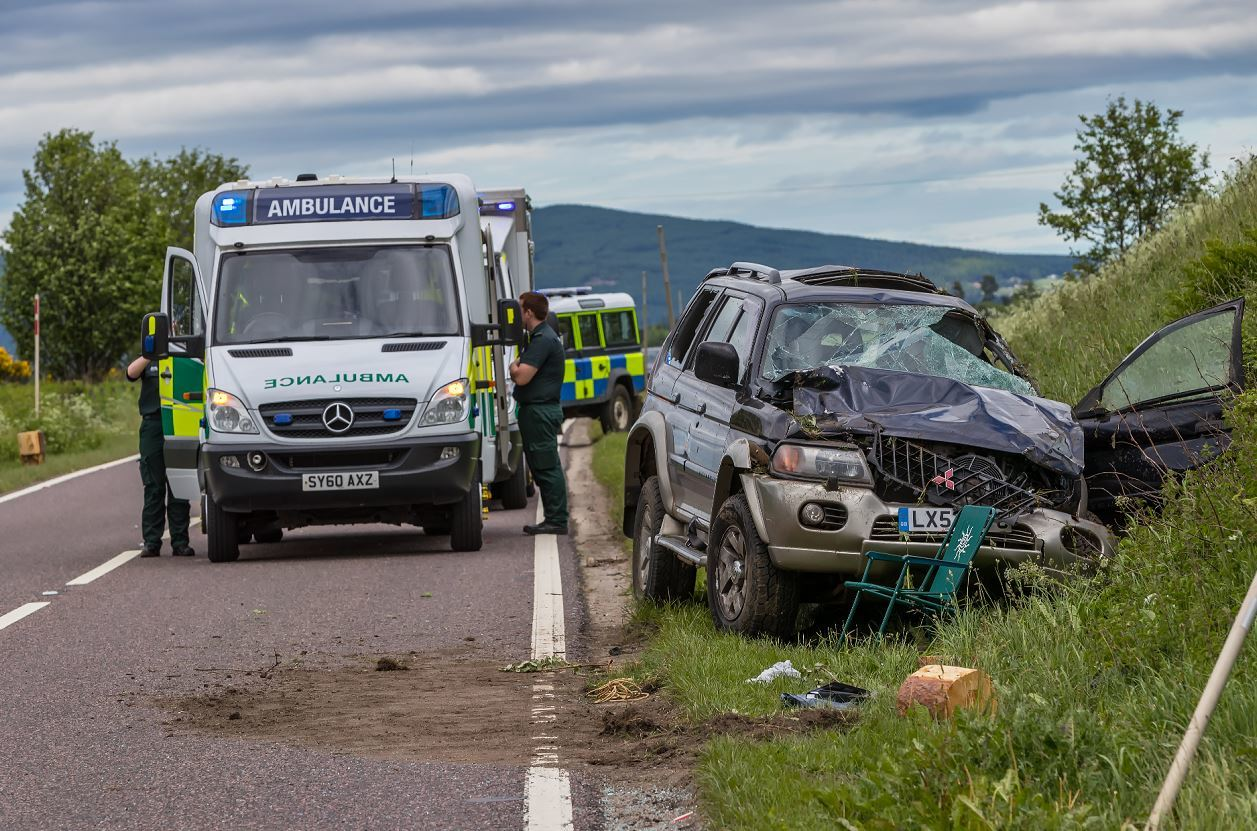 Police were called to the scene on the A95 near Marypark.