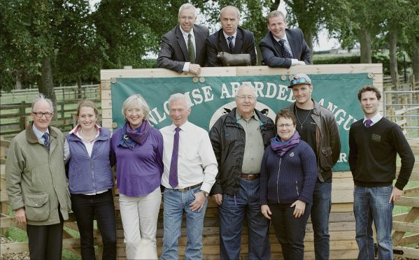 Team Dunlouise at the Aberdeen-Angus sale