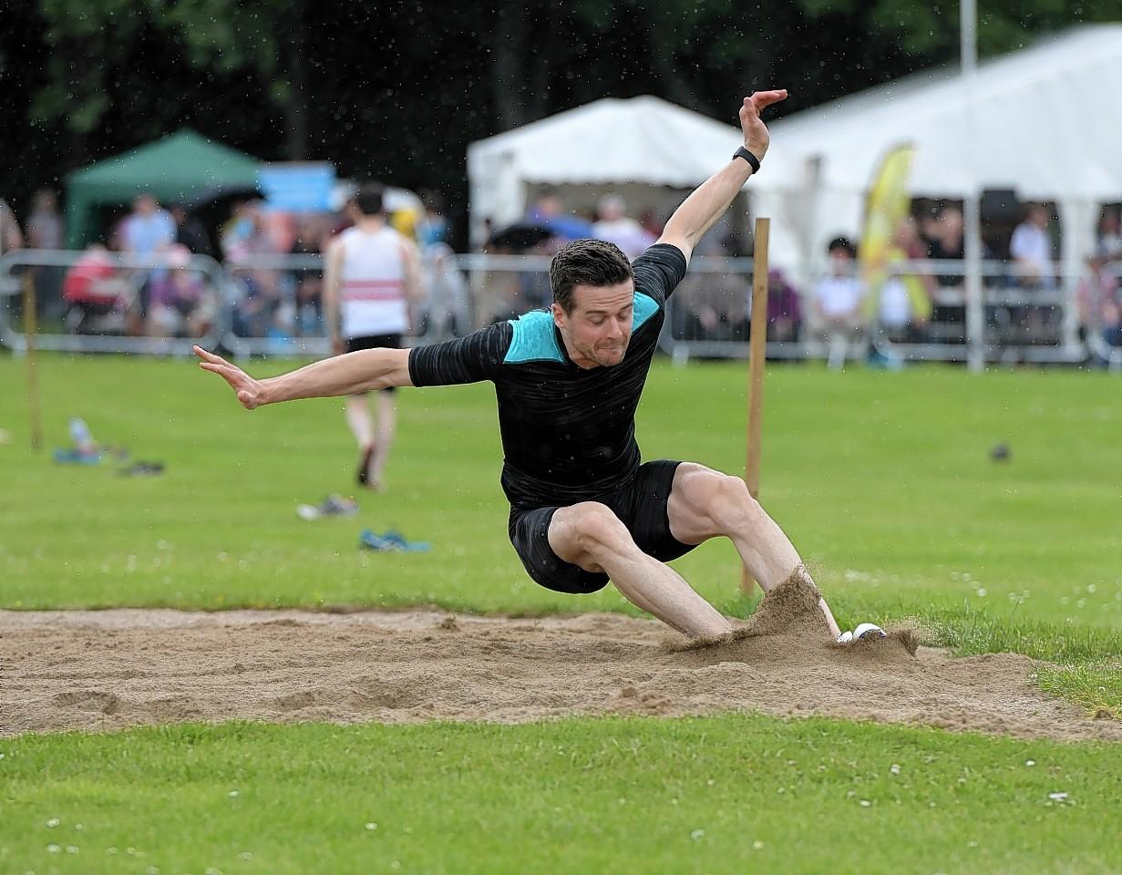 The long jump at Aberdeen Highland Games