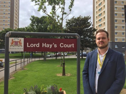 Alex McLellan at Lord Hay's Court, picture by Saskia Harper