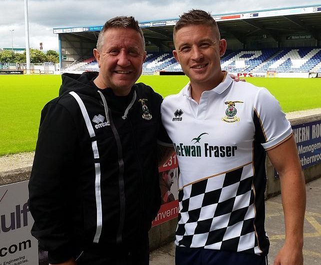 Caley Thistle manager John Robertson, along with new signing John Baird.