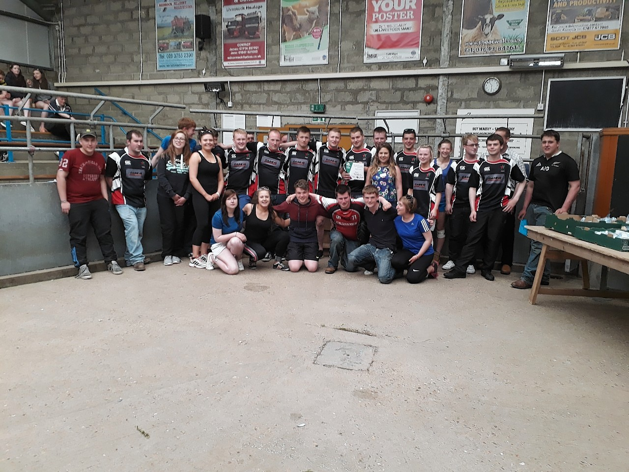 The winning team from Bower YFC
