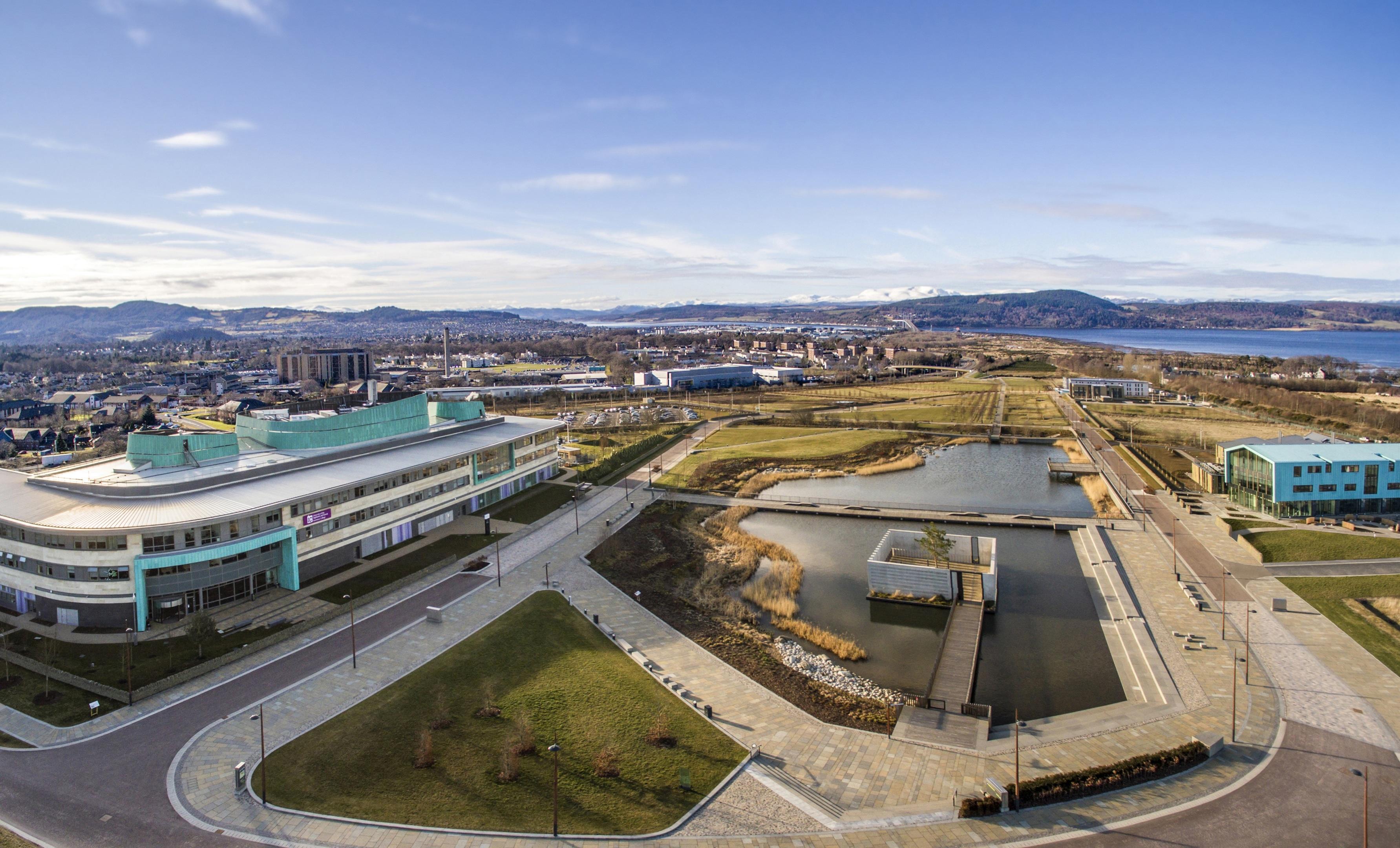 Aerial image of Inverness Campus