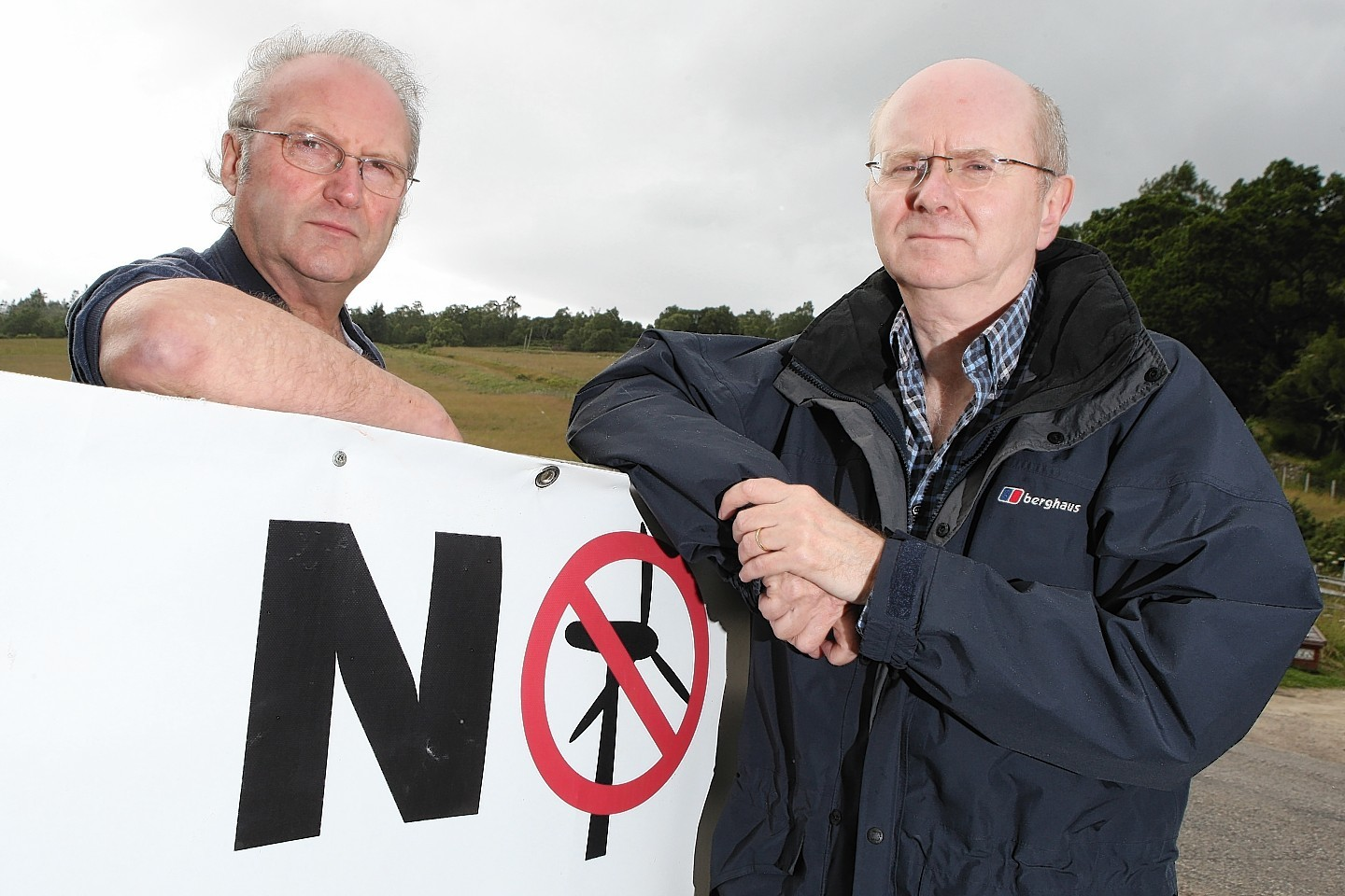 Dan Luscombe and Cliff Green of the Stag protest group.