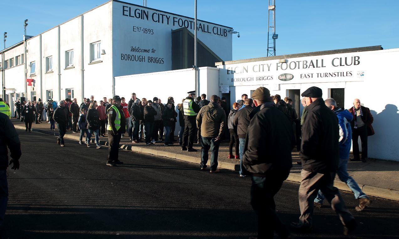 The football fan collapsed at Borough Briggs stadium