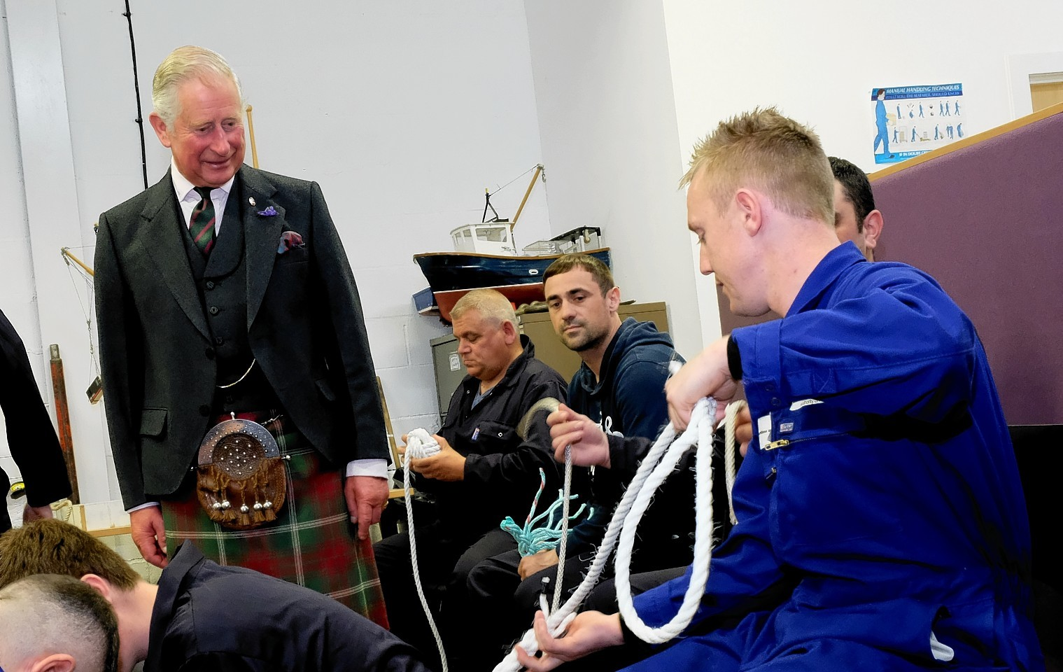 Prince Charles meets academy cadets. Pictures and video by Colin Rennie