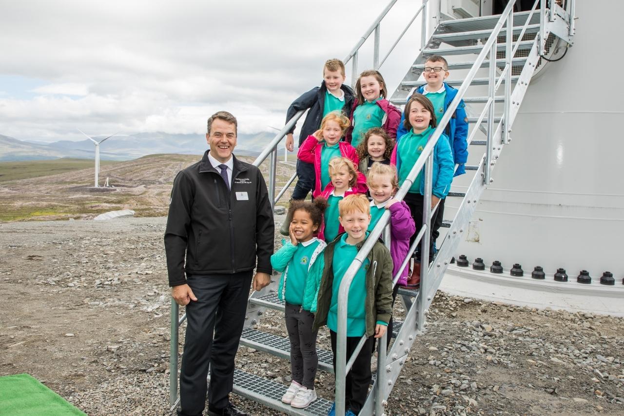 EDF opening of Corriemoillie Wind Farm.