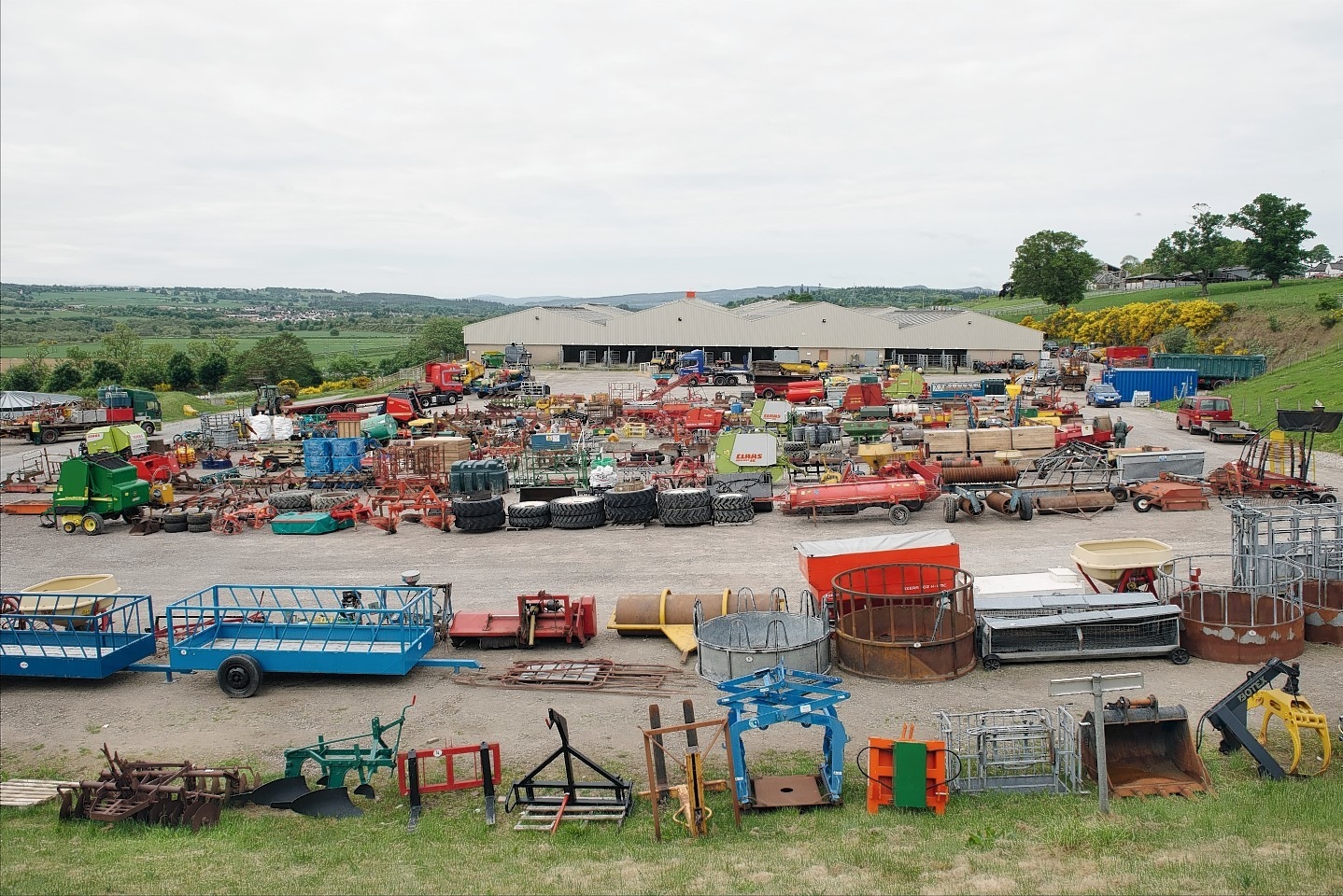 Machinery lined up for the sale at Dingwall.