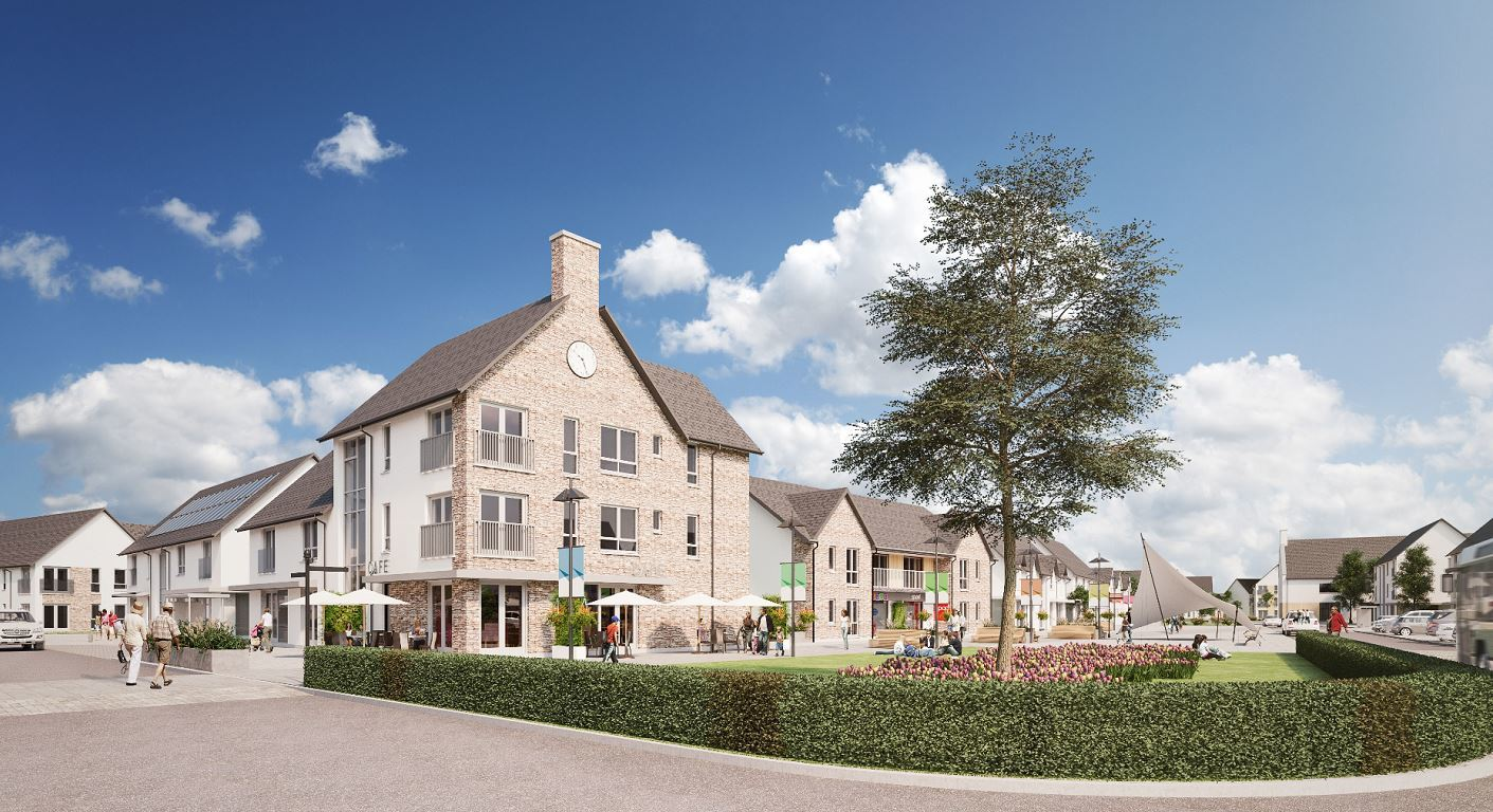 An artist impression of the heart of the proposed Linkwood village, which will form part of the development.