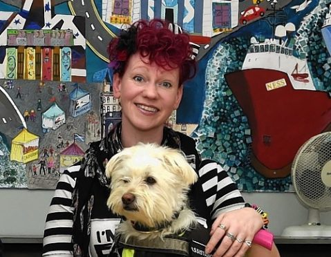 Ells McHaffie threw herself into charity work after a medical condition left her partially paralysed and ended her 20-year career as a nursery nurse.