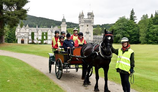 Some of the participants who took part in the carriage ride and picnic at Balmoral for the Garioch RDA 30th anniversary.