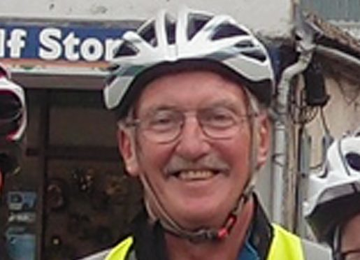 Jim Glennie was cycling around Arran with 10 relatives and friends when he died.