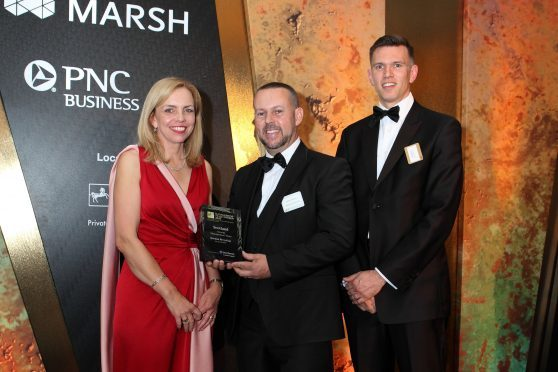 Left-right:  Helen Steers, partner at Pantheon and chair of the BVCA; Grant Keenan, managing director at Keenan Recycling; and Neil McInnes, director for Glasgow at Grant Thornton.