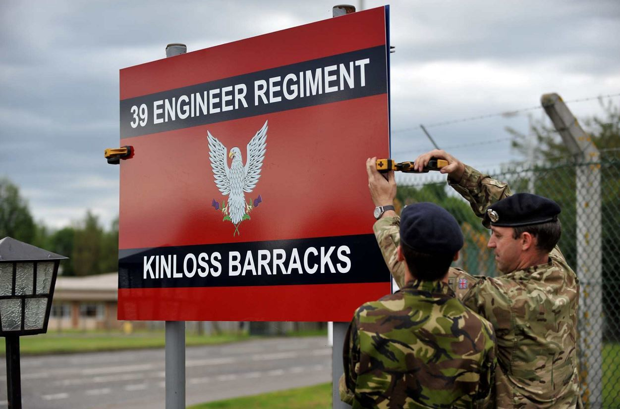 39 Engineer Regiment moved into Kinloss in 2012.
