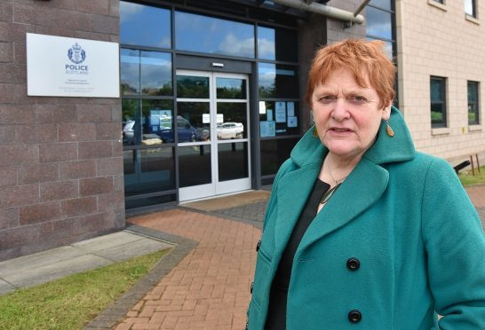 Highland Council leader Margaret Davidson at Police HQ Inverness