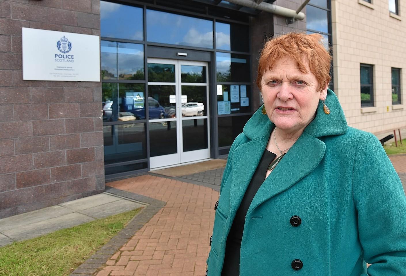 Highland Council leader Margaret Davidson at Police HQ Inverness