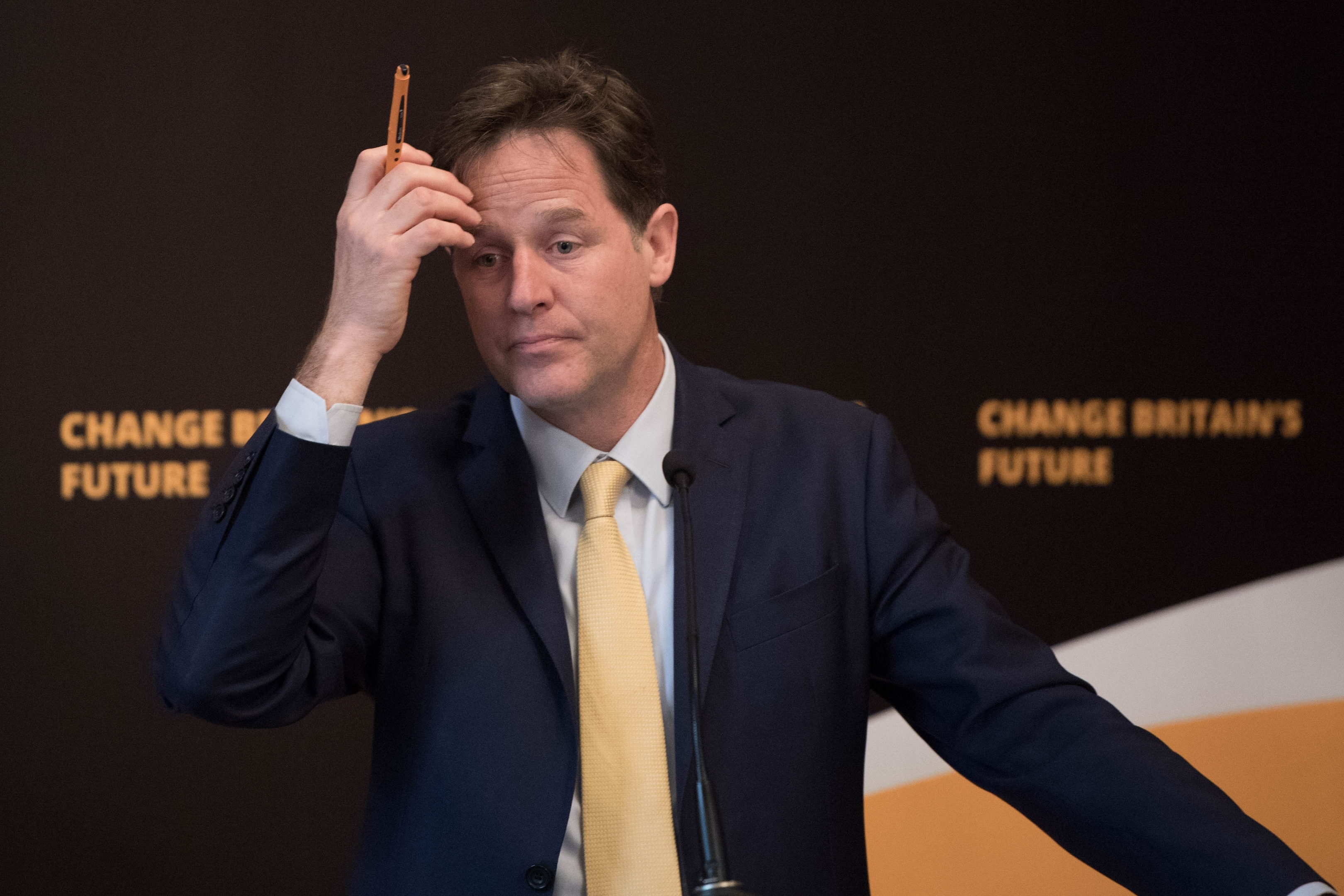Nick Clegg, who has lost his Sheffield Hallam seat to Labour.