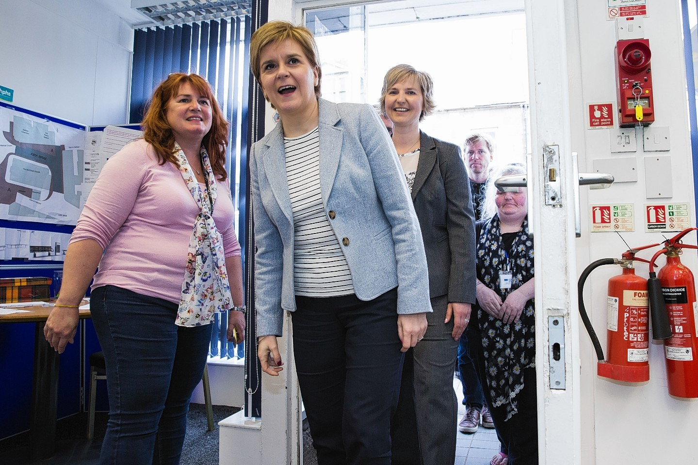 Nicola Sturgeon visiting the Here for You Centre in Fraserburgh last year