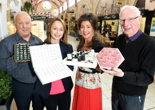 The Jewellers of the Inverness Victorian Market.   (L-R) Willie Morrison, Lorna Reynods, Denise Wilson and Willie MacLean.