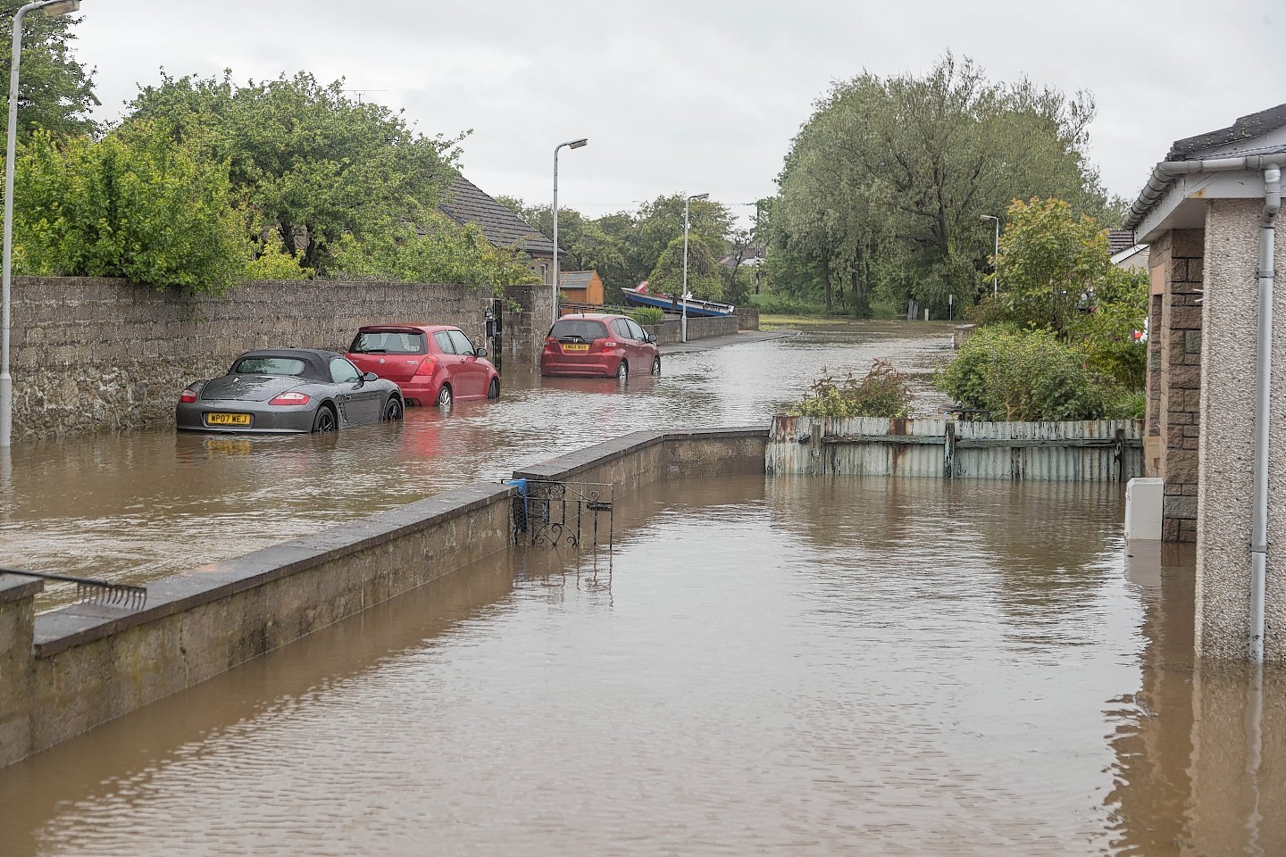 Increased flooding over the years has affected the road budget  (Portsoy in 2017)