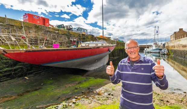 Forres retiree Richard Ogilvy still has hope of Sea Wraith taking to the open water.