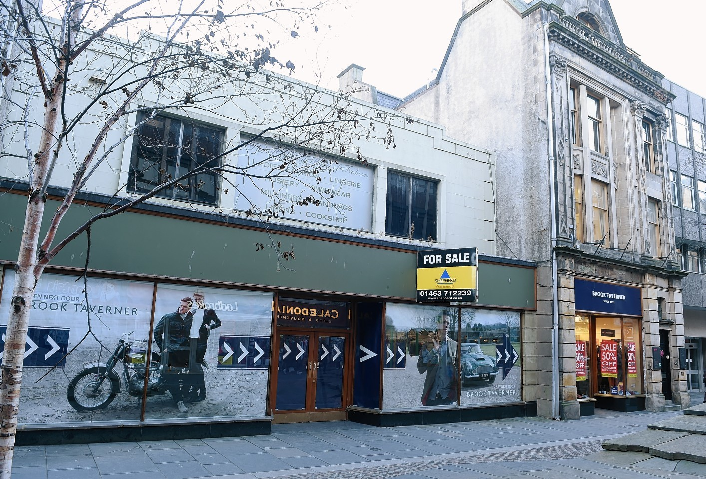 Picture by SANDY McCOOK  3rd February '17 The former McEwans of Perth store (left) on Church Street, Inverness which could possibly be converted to a pub and restaurant.