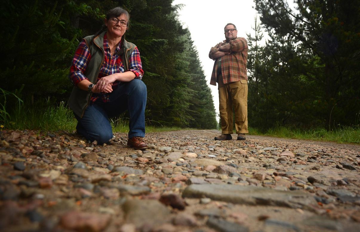 Susan and Andy Chadderton want a maintenance agreement between land owners in the wood to manage the upkeep of the track.