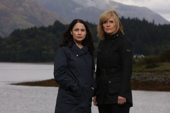 Laura Fraser as Annie Redford and Siobhan Finneran as DCI Lauren Quigley.